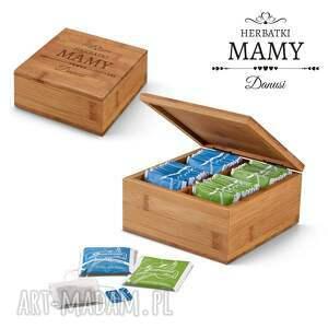 bambusowe pudełko na herbatę - herbatki mamy, dla prezent dzień