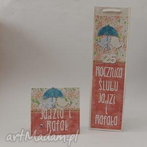ręcznie zrobione scrapbooking kartki komplet na rocznicę ślubu