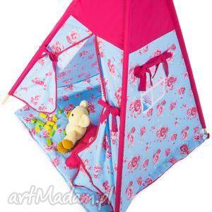 akukuuu teepee róże - fuksje, teepee, namiot, wigwam, zabawa, dziecko, prezent