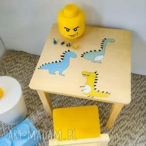 wnętrze z gustem - stolik i krzesełko dla dziecka meble dziecięce dinozaury
