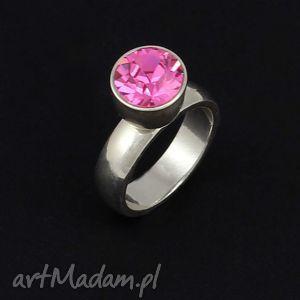 pierścionek srebrny z wymienną cyrkonią, pierścionek, swarovski, luksusowy, wymienna