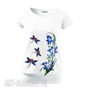bawełniana ręcznie malowana bluzka - unikat, bluzka, koszulka, oryginalna