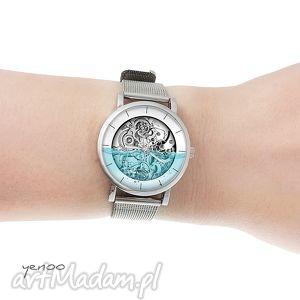 handmade zegarki zegarek, bransoletka - wodny - steampunk - mały