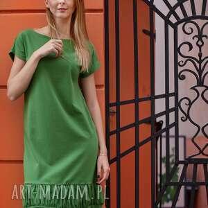 CREASE sukienka z dzianiny bawełnianej,