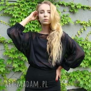 bluzka szyfonowa czarna mgiełka, bluzka, bluzeczka, lekka, szyfonowa, elegancka