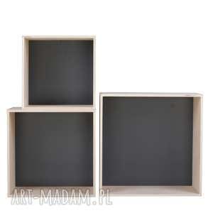 pudełka pudła grota kwadrat m-xl, loft, scandi, new-nordic, bauhaus, sklejka