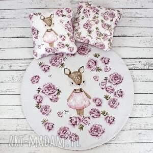 hand-made dla dziecka sarenka mata do zabawy oraz dwie poduszki