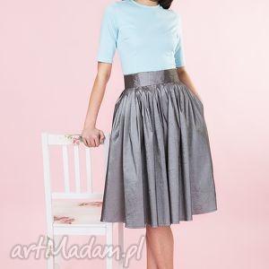hand-made spódnice grafitowa spódnica z tafty