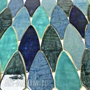 """Ceramiczne ręcznie wykonane kafelki """"błękitny smok"""" ceramika"""