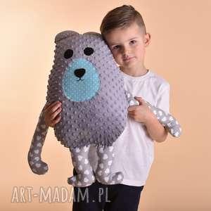 przytulanka dziecięca miś, poduszka maskotka, miś minky