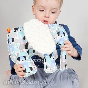 maskotki mięciutki słonik - minky bawełna białe pieski, minky, maskotka, zabawa