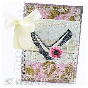 notes szpilki - różowy, notes, pamiętnik, szydełko, kwiat, szpilki, buty