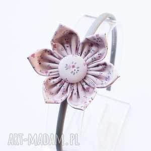 opaska do włosów z kwiatkiem, opaska, kwiatek, romantyczna, kauczukowa
