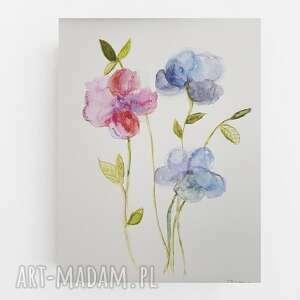 Kwiaty-akwarela formatu a4 paulina lebida akwarela, papier,