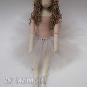 lalka #102, szmacianka, przytulanka, bawełniana, tiul, tilda, loki