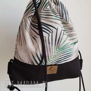 Plecak worek - summer vibes tasha handmade plecak, worek, palmy