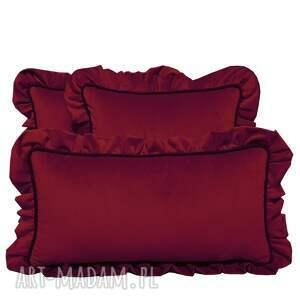 ręcznie zrobione pomysły na prezenty święta poduszki dekoracyjne komplet 3 welur bordo