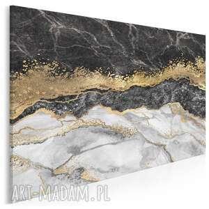 Obraz na płótnie - marmur złoto czarny elegancki 120x80 cm 98501