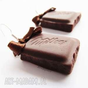 kolczyki - mleczne czekoladki