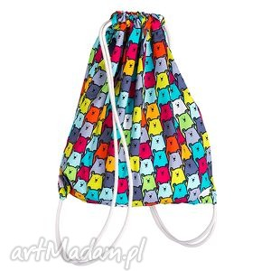 worek plecak bawełniany - niedźwiady, dla dziecka