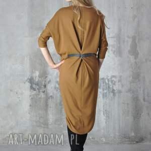 nah nu step - sukienka, midi, ruda, dzienna, praca, sylwestrowa, oryginalny