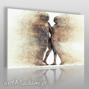 hand made obrazy obraz na płótnie - para sylwetki postacie - 120x80 cm (38401)