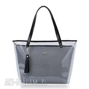 torebki torebka delise 2w1 1219 szara, delise, szary, foliowa, lekka, modna, pojemna