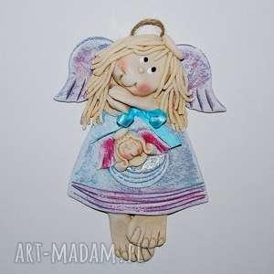 lalka śpi - anioł - aniołek, lalka, ozdoba, dekoracja, rękodzieło