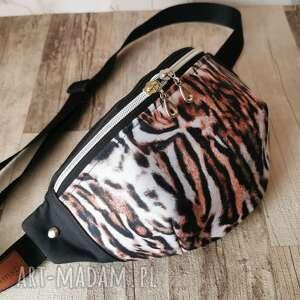 handmade nerki nerka saszetka biodrowa wodoodporna torebka na pas ramię - tygrys rozmiar