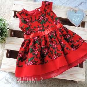 Sukienka góralska dziecięca tiulowa cleo roz. 110/116 folkowa, sukienka, folkowa