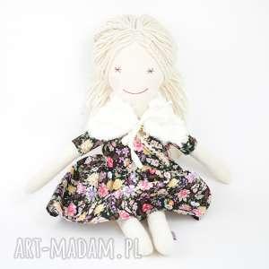 ręcznie zrobione lalki lalka przytulanka czarna łączka