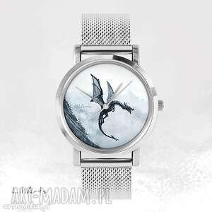 Prezent Zegarek, bransoletka - Czarny smok metalowy, zegarek, bransoletka, metalowa