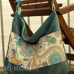 Torebka listonoszka na ramię happyart torebka, worek, ornament