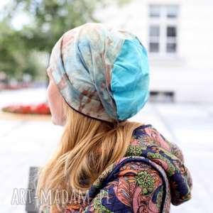 czapka unisex damska męska ręcznie farbowana, bawełna, sport