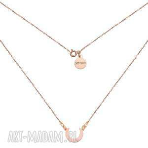naszyjnik z półksiężycem w różowym złocie - złote naszyjniki
