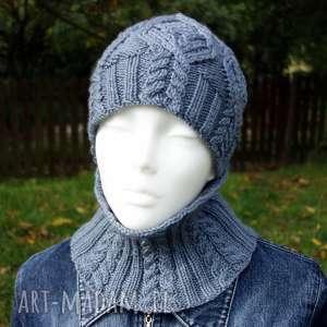 hand-made czapki komplet oxford