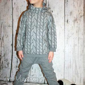 bluza z kapturem - warkocz 98-116, bluza, kaptur, warkocz, sweter