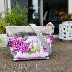 listonoszka z papieru kwiaty vintage - ,listonoszka,papier,vintage,kwiaty,wegańska,eko,