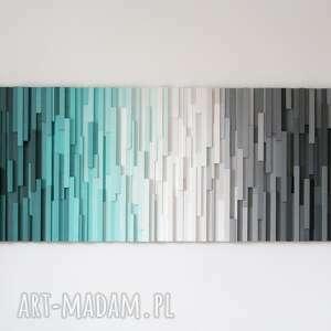 mozaika 3d, obraz drewniany at, wallart, mozaika, loft, modern, drewniane