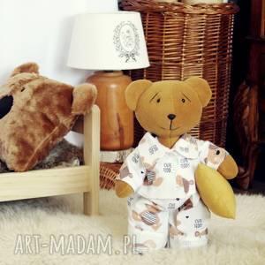 Miś śpioch w piżamce, zabawka, przytulanka, spersonalizowane, pokój,