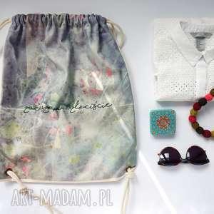 ZACIESZAM plecak / worek torba - płócienna, torba-plażowa, dzień-matki, bawełna,