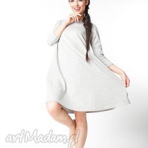 s/m sukienka typu klosz wiosenna, dzianinowa, dresowa, luźna, trapezowa,