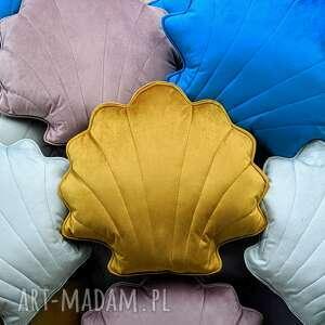 dekoracyjna duża poduszka muszla - dekoracja jesienna, poszewka, jasiek