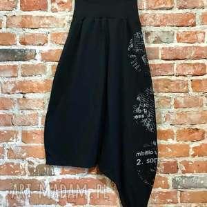 spodnie bombai nocą-spodnie na extra wyjście, folk spodnie, boho czarne