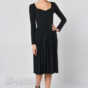 sukienki czarny bez - sukienka, jersey, czarna
