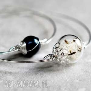 bransoletki perła i dmuchawiec 2 sztuki, dmuchawce, kulka, srebro