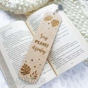 zakładki drewniana zakładka do książki, zakładka