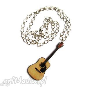 duży naszyjnik gitara klasyczna, naszyjnik, gitara, muzyczny