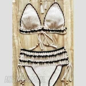 bielizna strój kąpielowy zanzibar, crochet bikini, bikini szydełkowe