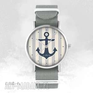 Prezent Zegarek, bransoletka - Kotwica szary, nato, zegarek, bransoletka, nato